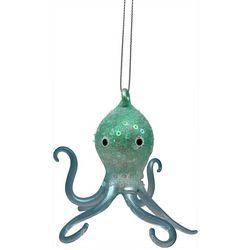Brighten the Season Octopus Sequin Glass Ornament