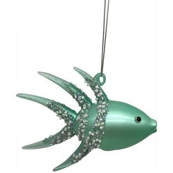Brighten the Season Beaded Glitter Fish Ornament