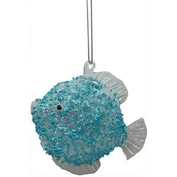 Brighten the Season Clear Fin Beaded Fish Ornament