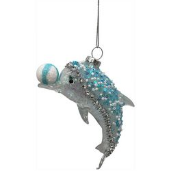 Brighten the Season Dolphin & Ball Ornament