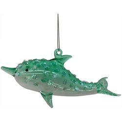 Brighten the Season Dolphin & Star Glitter Ornament