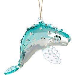 Brighten the Season Manatee & Rhinestone Ornament