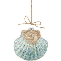 Brighten the Season Fan Shell Glitter Ornament