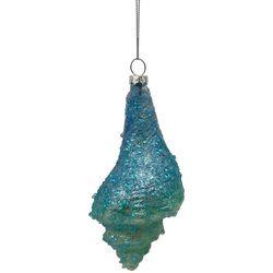 Brighten the Season Ombre Glitter Conch Shell Ornament
