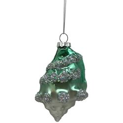 Brighten the Season Conch Shell Glitter Ornament
