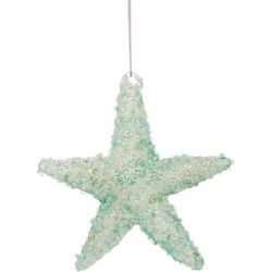 Brighten the Season Starfish Beaded Glass Ornament
