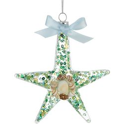 Brighten the Season Starfish & Shell Ornament