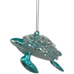 Brighten the Season Sea Turtle Sequin Shell Ornament