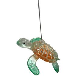 Brighten the Season Sea Turtle Glitter Gem Shell