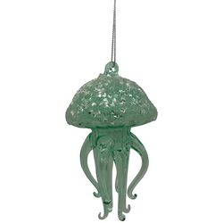 Brighten the Season Jellyfish & Rhinestone Glass Ornament