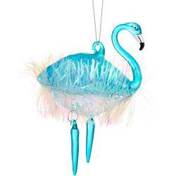 Brighten the Season Flamingo Tinsel Ornament