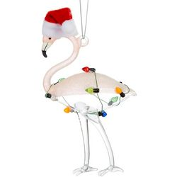 Flamingo String Lights & Hat Ornament