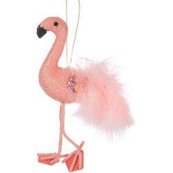 Brighten the Season Flamingo Fluffy Feathers Ornament
