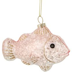 Brighten the Season Clear Glitter Fish Ornament
