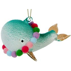 Brighten the Season Whale & Pom Pom Ornament