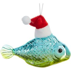 Fish & Santa Hat Ornament