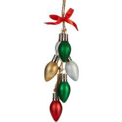 Glitter Bulbs & Ribbon Ornament