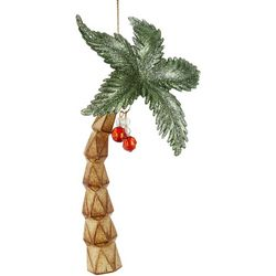 Palm Tree Carved Trunk Ornament