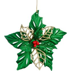 Brighten the Season Poinsettia Ornament