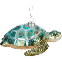 Sea Turtle Glitter Shell Ornament