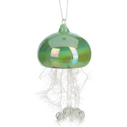 Brighten the Season Jellyfish Tinsel Glass Ornament
