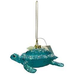 Sea Turtle & Glitter Shell Ornament