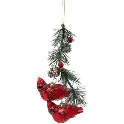 Cardinals & Holly Ornament