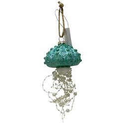 Brighten the Season Jellyfish & Pearls Glass Ornament