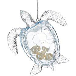 Sea Turtle & Pearls Ornament