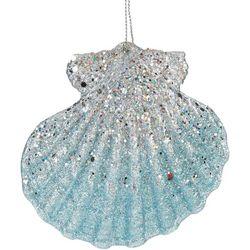 Sequin Glitter Fan Shell Ornament