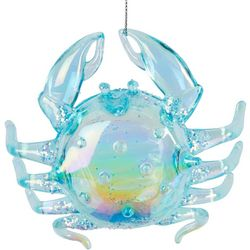 Brighten the Season Iridescent Blue Crab Ornament