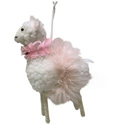 Brighten the Season Tutu Sheep Ornament