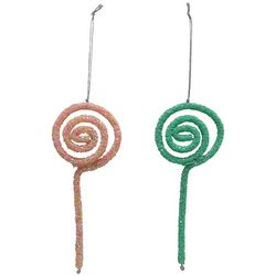 Brighten the Season 2-pc. Glitter Lollipop Ornaments