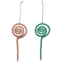 2-pc. Glitter Lollipop Ornaments