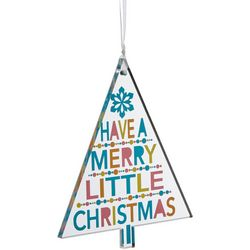 Brighten the Season Merry Little Christmas Tree Ornament