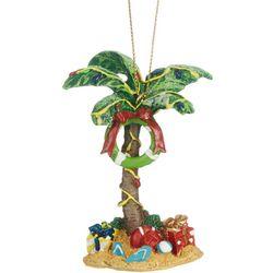 Palm Tree Life Saver Ring Ornament