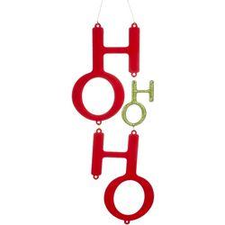 Glitter Ho Ho Ho Ornament