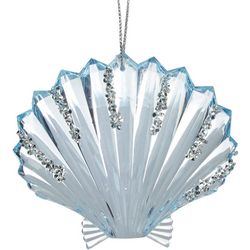 Glitter Acrylic Shell Ornament