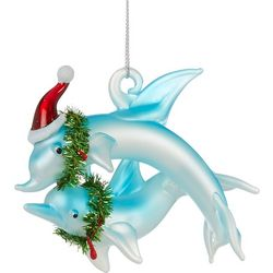 Brighten the Season Dolphins & Wreath Ornament