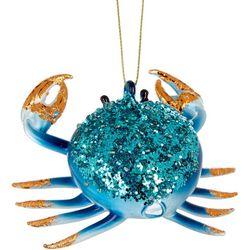 Brighten the Season Beaded & Glitter Crab Ornament