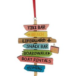 Beach Signs Wood Ornament