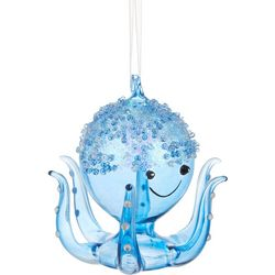 Beaded Octopus Glass Ornament