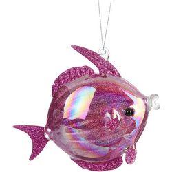Brighten the Season Glitter Fish Glass Ornament