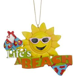 Brighten the Season Life's A Beach Sun Ornament