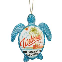 Sea Turtle Welcome To The Beach Ornament