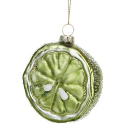 Brighten the Season Sliced Lemon Glass Ornament
