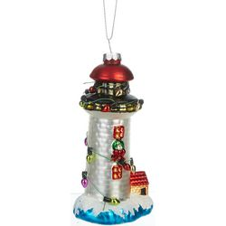 Lighthouse & String Lights Ornament