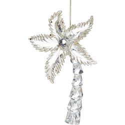 Coconut Tree Glass Ornament