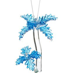 Brighten the Season Double Palm Tree Glass Ornament