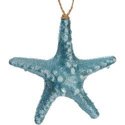 Brighten the Season Glitter Textured Starfish Ornament